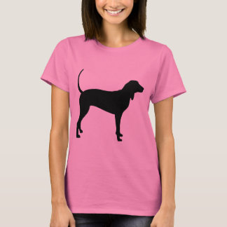 Coonhound Dog (black) T-Shirt