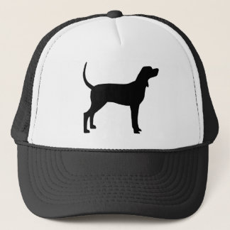 Coonhound Silhouette (black) Trucker Hat