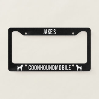 Coonhoundmobile Coonhound Silhouettes Custom Licence Plate Frame