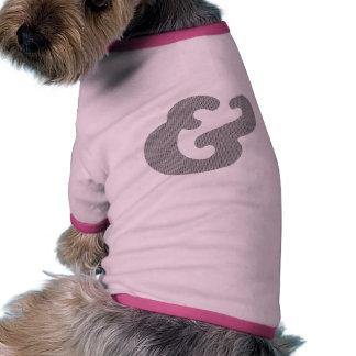 Cooper Bold Italic Black Dots Dog T Shirt