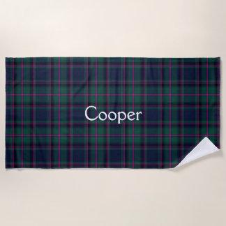 Cooper Clan Tartan Plaid Beach Towel