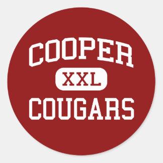 Cooper - Cougars - High School - Abilene Texas Round Sticker