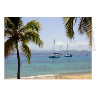 Cooper Island BVI Beach Card