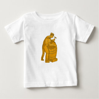 Cooper Making Wooden Barrel Drawing Baby T-Shirt