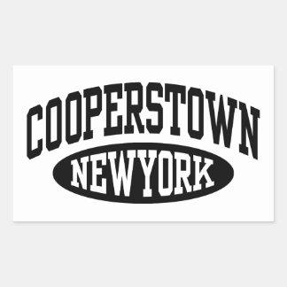 Cooperstown New York Rectangular Sticker