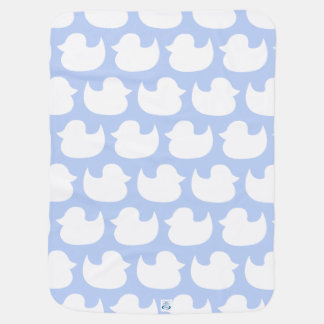 Coordinating Blue and White Duck Pattern Baby Blanket