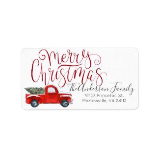 Coordinating Christmas Address Label
