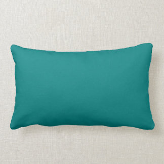 Coordinating Turquoise and Teal Solid Colours Lumbar Cushion