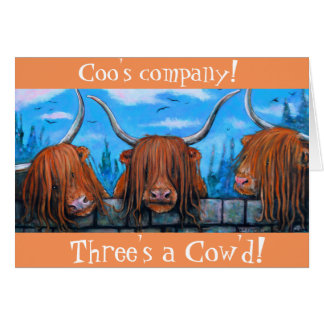 Coo's Company, Three's a cow'd. Card