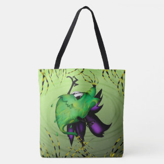COOTTY ALIEN MONSTER All-Over-Print Tote Bag Large