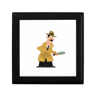cop guy on the prowl small square gift box
