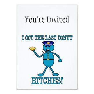 "Cop Has Last Donut 5"" X 7"" Invitation Card"