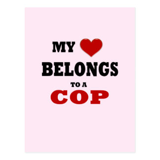 Cop Love Postcard