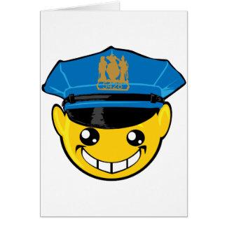 cop smiley face card