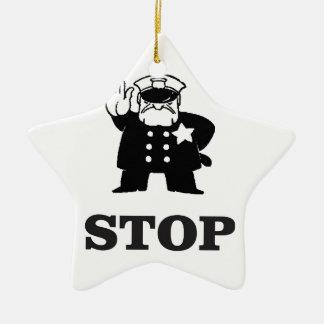 cop stop ceramic star decoration