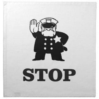 cop stop napkin
