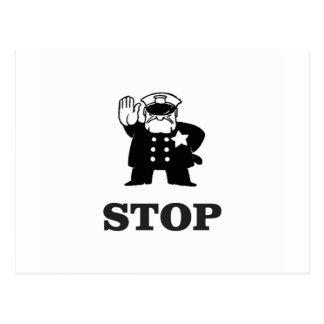 cop stop postcard