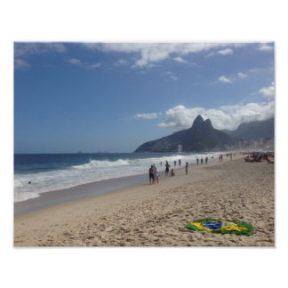 Copacabana beach landscape photograph poster