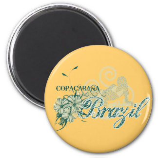 Copacabana Brazil Tshirts and Gifts 6 Cm Round Magnet
