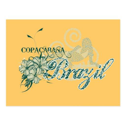 Copacabana Brazil Tshirts and Gifts Post Card