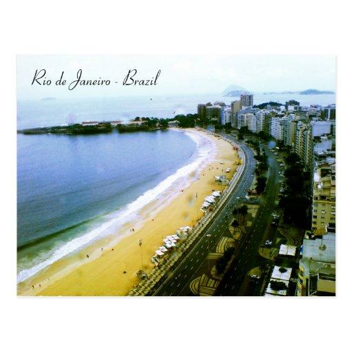 Copacabana Curve, Rio de Janeiro, Brazil. Post Card