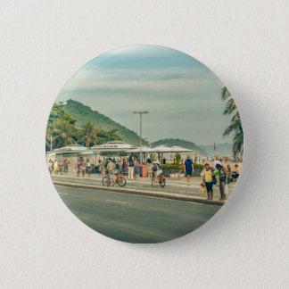 Copacabana Sidewalk Rio de Janeiro Brazil 6 Cm Round Badge