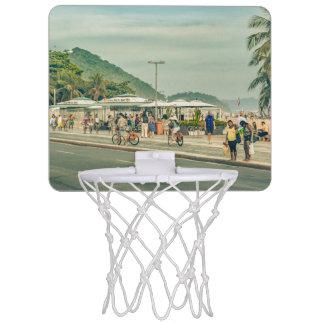 Copacabana Sidewalk Rio de Janeiro Brazil Mini Basketball Hoop