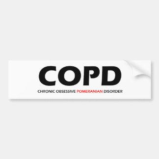COPD - Chronic Obsessive Pomeranian Disorder Bumper Sticker