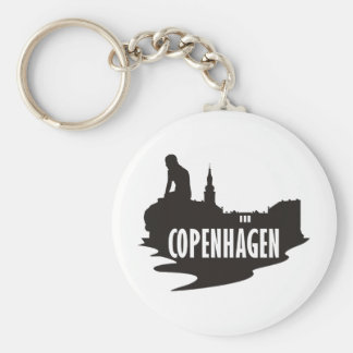 Copenhagen Basic Round Button Key Ring