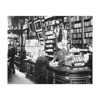 Copenhagen Bookstore 1899 Canvas Prints