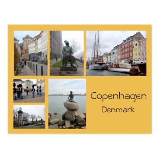 Copenhagen Collage 2 Postcard