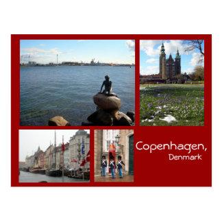 Copenhagen Collage Postcard