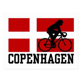 Copenhagen Cycling (female) Postcard