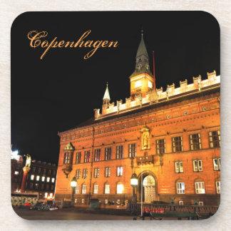 Copenhagen, Denmark at night Coaster