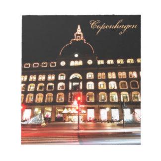 Copenhagen, Denmark at night Notepad