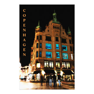 Copenhagen, Denmark at night Stationery