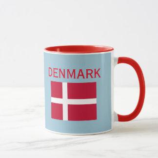Copenhagen Denmark Crest & Flag Mug