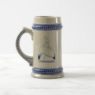 Copenhagen Denmark Elegant Classy Sketch Nostalgic Beer Stein