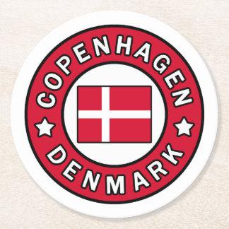 Copenhagen Denmark Round Paper Coaster