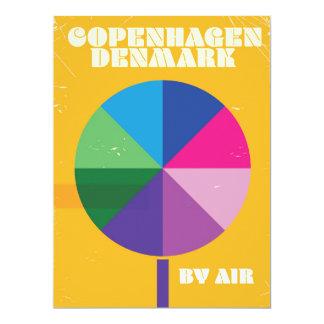 Copenhagen, Denmark vintage travel poster Card