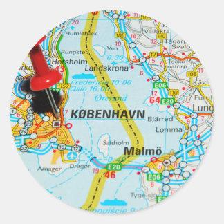 Copenhagen, København in Denmark Classic Round Sticker