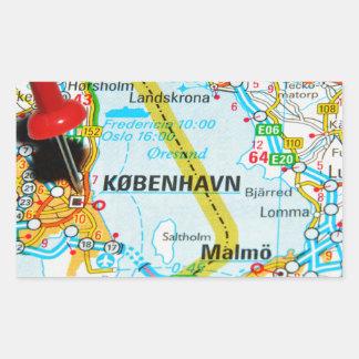 Copenhagen, København in Denmark Rectangular Sticker