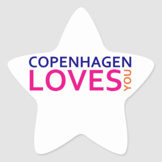 Copenhagen Loves You Star Sticker