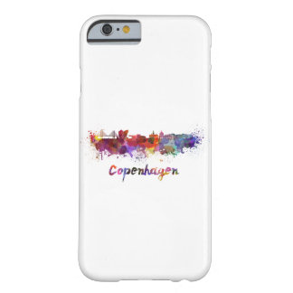 Copenhagen skyline in watercolor barely there iPhone 6 case