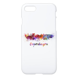 Copenhagen skyline in watercolor iPhone 8/7 case