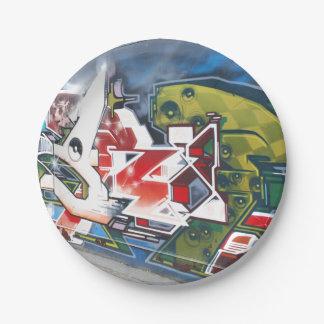 Copenhagen Street Graffiti Art 7 Inch Paper Plate