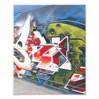 Copenhagen Street Graffiti Art Photo Print