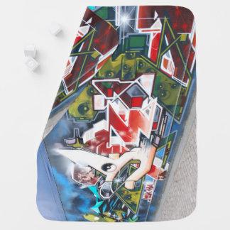 Copenhagen Street Graffiti Art Receiving Blanket