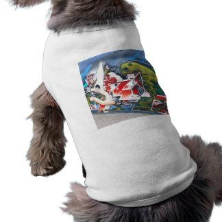 Copenhagen Street Graffiti Art Sleeveless Dog Shirt