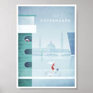 Copenhagen Vintage Travel Poster